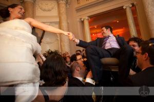 carnegie institute of science jewish wedding Washington DC hora