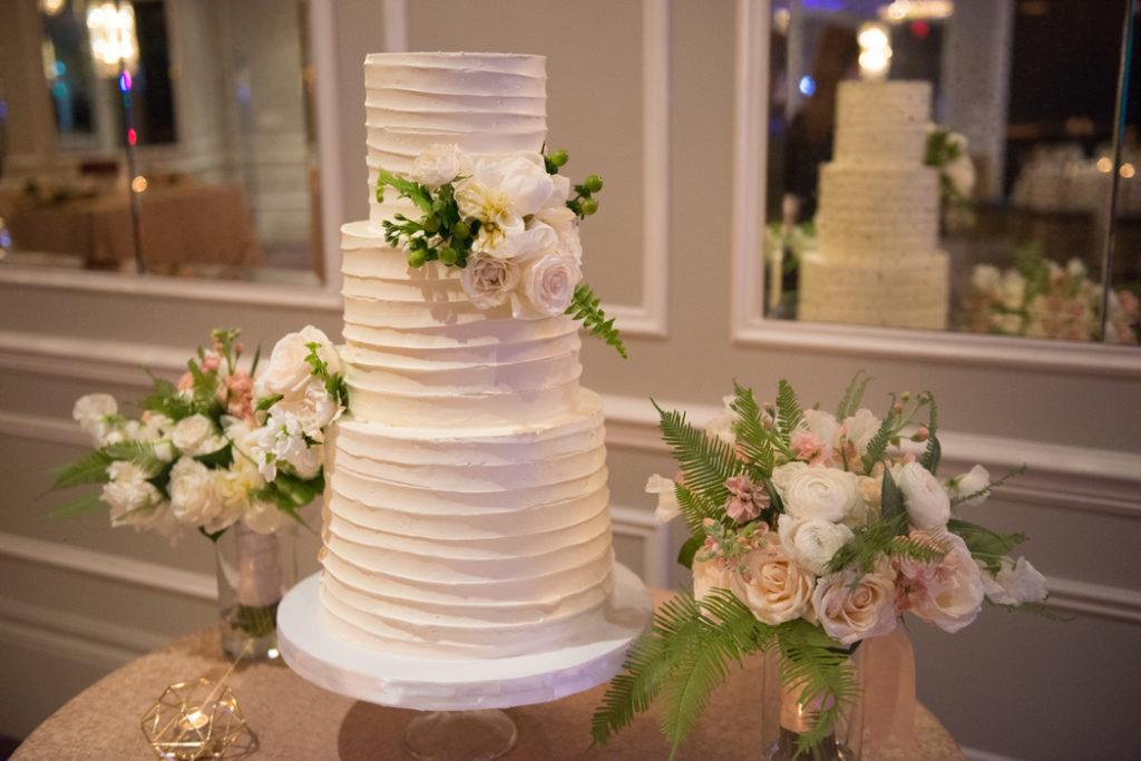 buttercream bakeshop round textured buttercream wedding cake