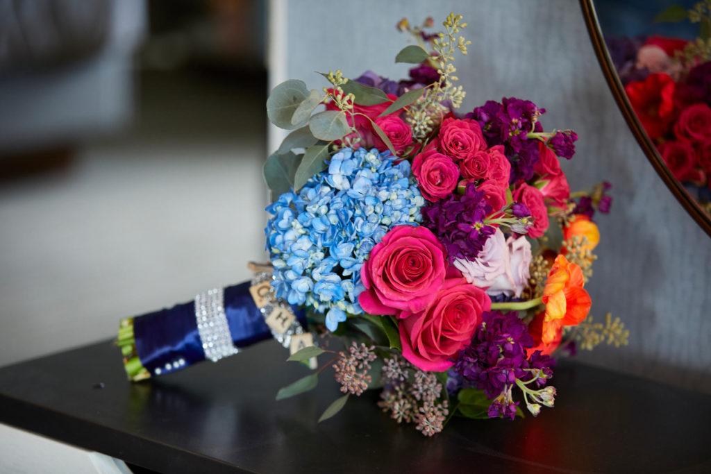 purple_fuchsia_blue_orange_bridal_bouquet