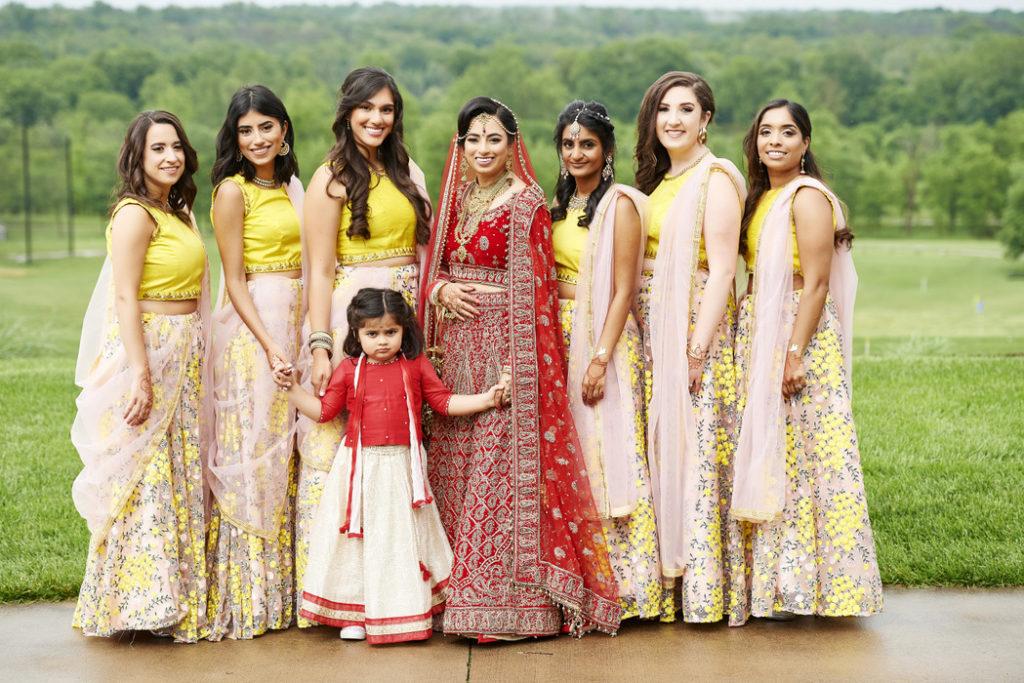 indian_wedding_bridesmaids_yellow_dresses