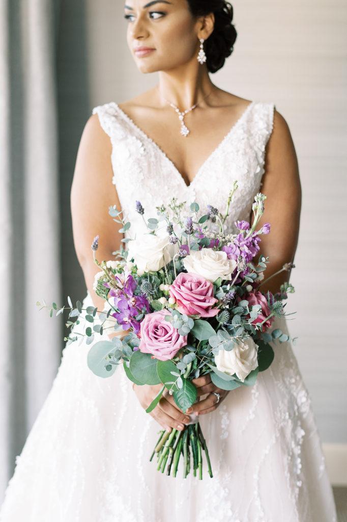 bridal-bouquet-lavender-lilac-roses-orchids