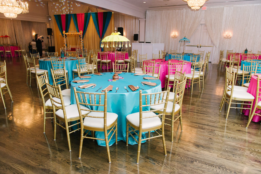 indian-sangeet-the-ballroom-bethesda-maryland-fuchsia-turquoise