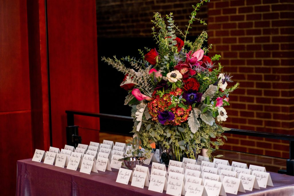 jewel_tones_escort_card_table_floral_arrangement